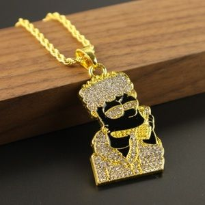 Iced Out Bart Simpson Chain